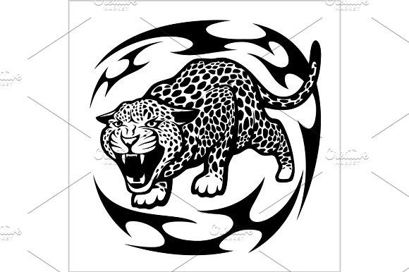 Jaguar Tribal Tattoo