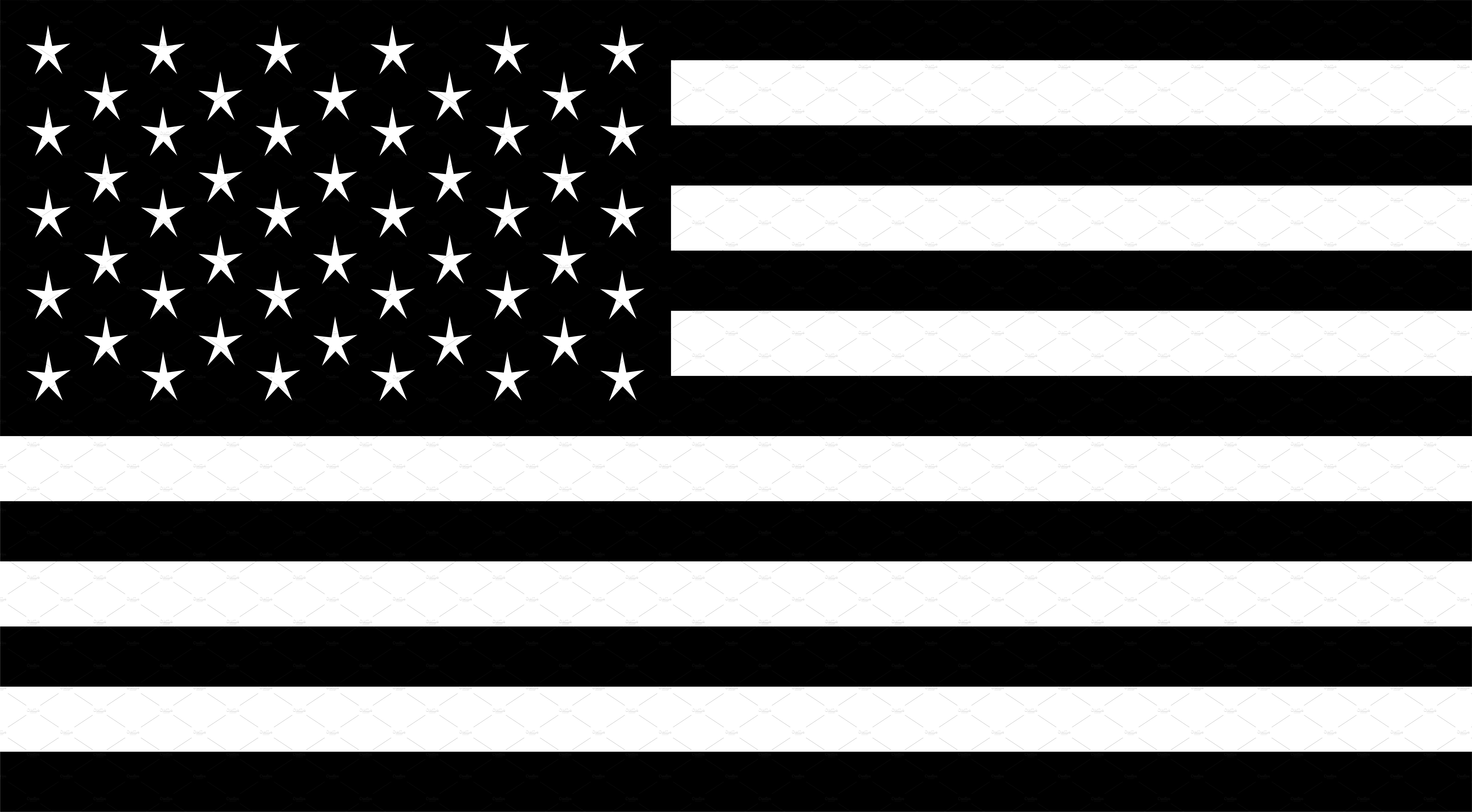 Free download of Black and White American Flag vector ...