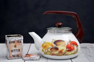 Water heater for tea and tea can