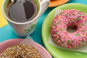 Donuts and coffee.