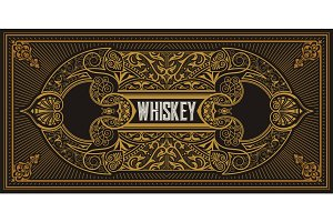 Retro whiskey label.