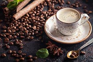 Fresh tasty espresso