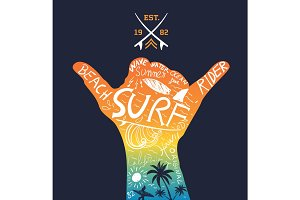Tropical Surfing Design