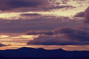 Beautiful cloudy sky at sunset