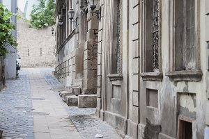 Narrow streets of Old City Baku