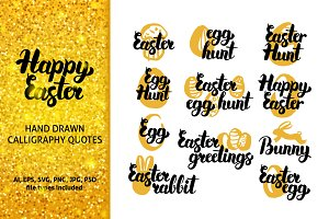 Happy Easter Hand Drawn Quotes