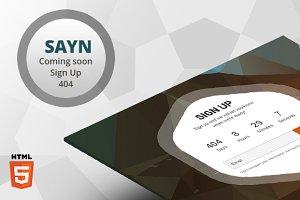 SAYN - Responsive Landing Page