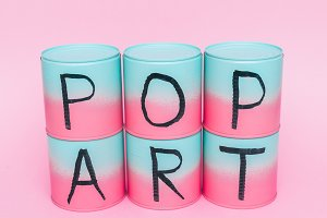inscription 'Pop Art' by marker.
