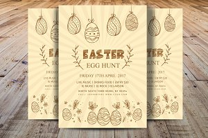 Minimal Easter Egg Hunt Party Flyer