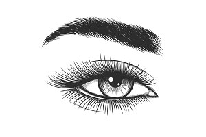 Beautiful lady eye sketch
