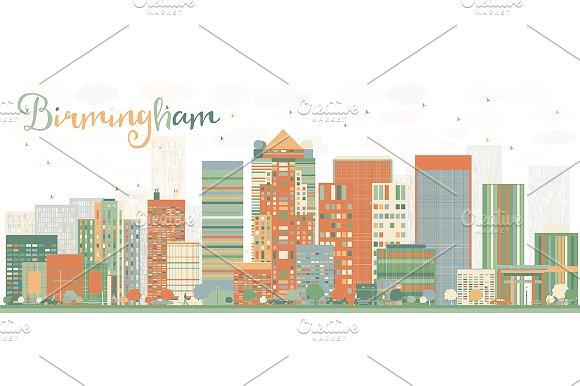 Abstract Birmingham Skyline