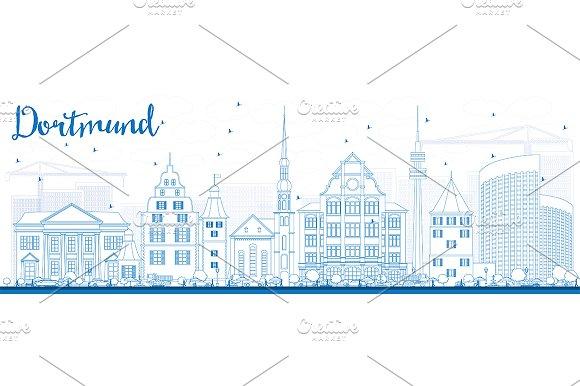 Outline Dortmund Skyline
