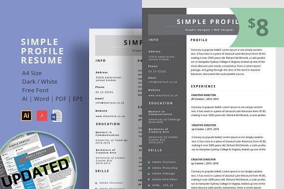 Simple Profile Clean Resume