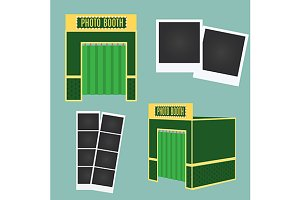 Photo booth icon and photo frames