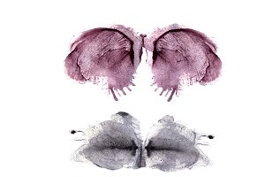 Symmetric watercolor stains