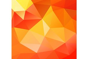 Triangle background. Orange polygons