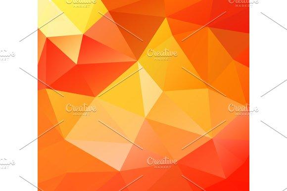 Triangle background. Orange polygons - Graphics