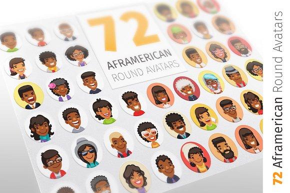 African American Round Avatars