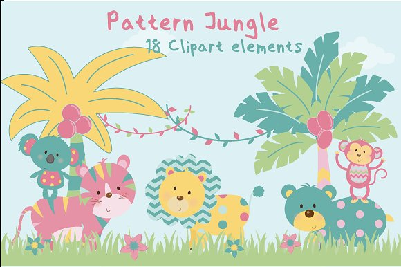 Pattern Jungle Clipart-girls