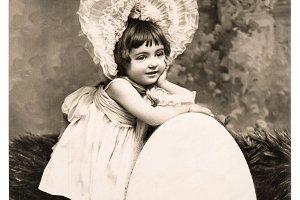 Vintage Easter card big egg