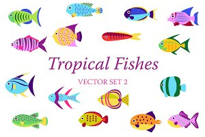 Tropical fish set 2