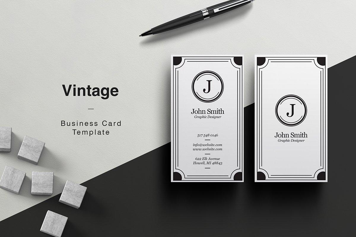 Vintage business card business card templates creative market colourmoves