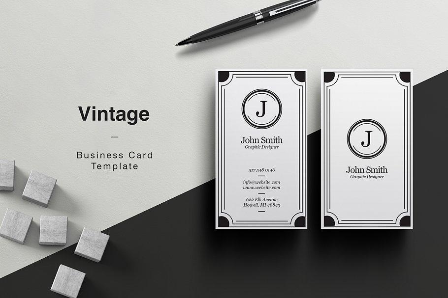 Vintage business card business card templates creative market pro previous fbccfo Choice Image