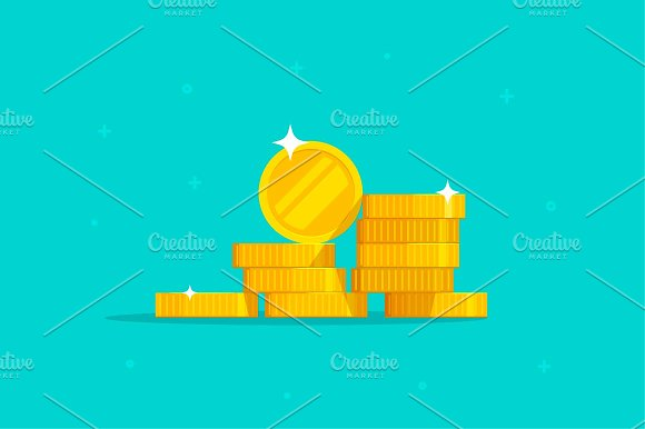 Coins Money Stack Vector