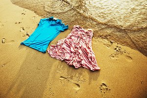 clothing pair on the coast
