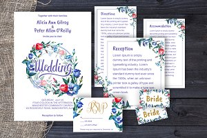 Wedding invitation eustoma DiY