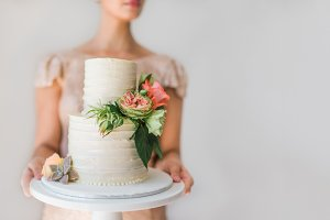 Blush Cake - Premium Stock Photo