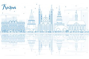 Outline Kazan Skyline
