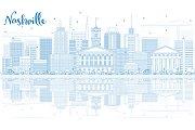 Outline Nashville Skyline