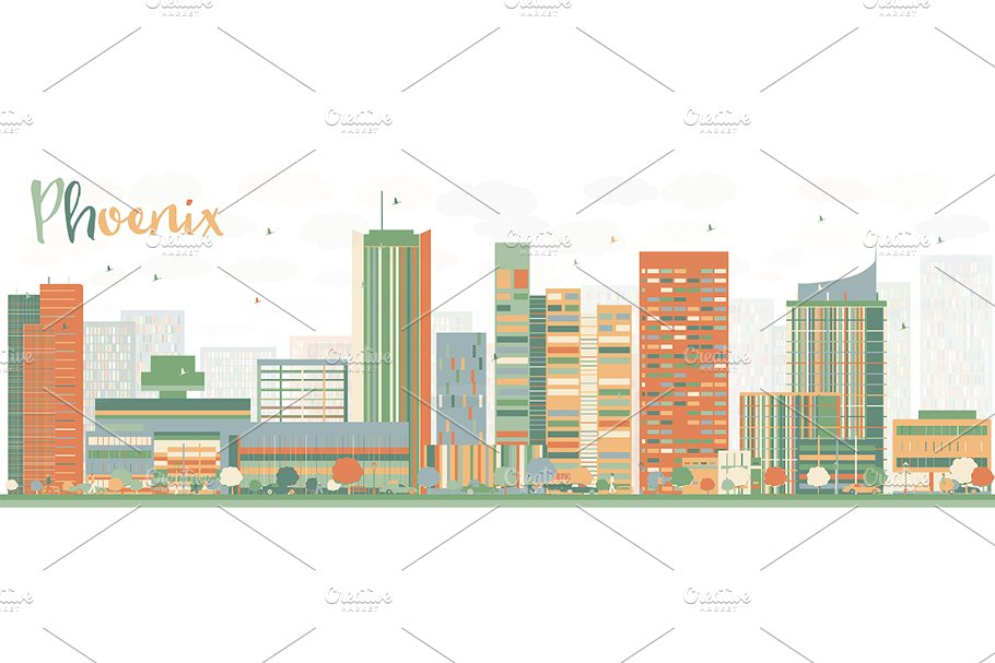 Abstract Phoenix Skyline