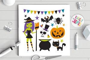 Retro Halloween Witch Party Set
