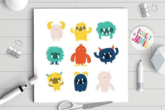 Cute Furry Monsters Set