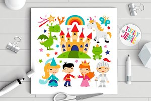Retro Magical Fairytale Kingdom Set
