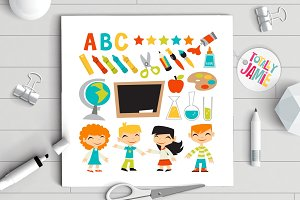 Retro Kids Back To School Set