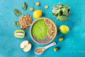 Green smoothie clean eating concept
