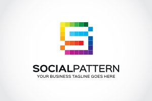 Social pattern Logo Template