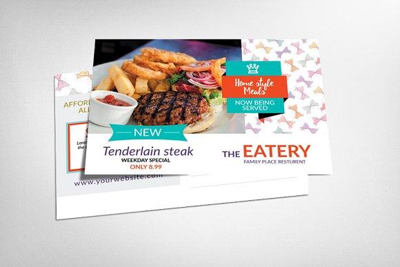 Steakhouse BBQ Restaurant Postcard