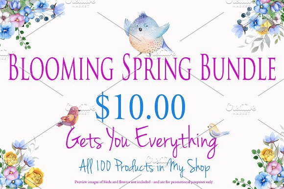 Blooming Spring Bundle All For $10