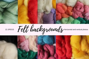 Colourful felt backgrounds