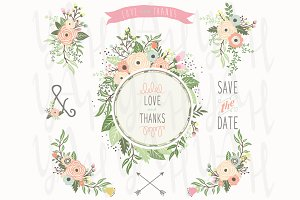 Flower Bouquet Frame Sets