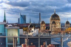 Roof of the Latvian capital Riga