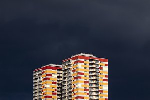 Abstract residential buildings