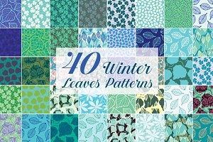 Winter Leaves Patterns 70% Off