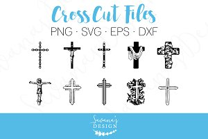 Cross SVG, EPS, DXF Cut Files