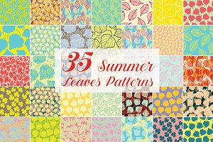 Summer Leaves Patterns 70% Off