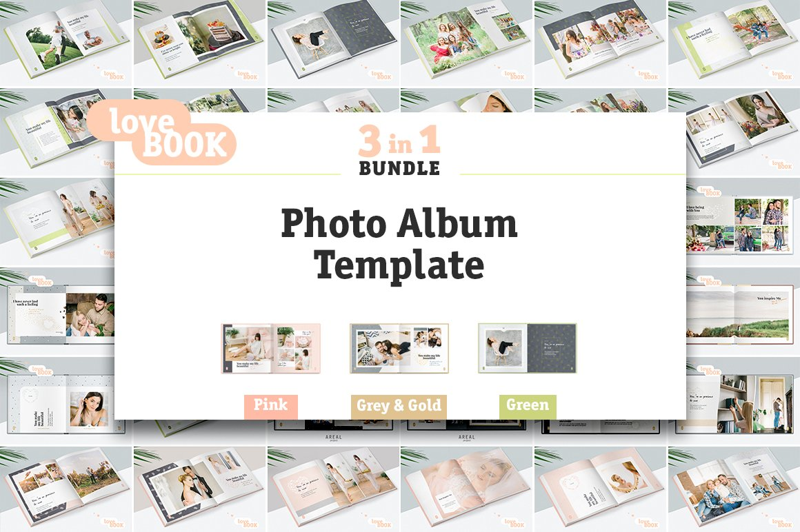 3 In 1 Photo Album Template Bundle Stationery Templates
